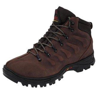 Coturno Masculino Couro Resistente Para Trekking Leve - 3206