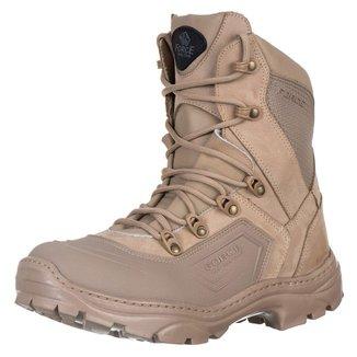 Coturno Militar Desert Lancamento Bota Tatica Pro Confort Force Militar.
