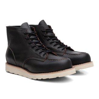 Coturno Moc Toe Black Boots Couro Cano Médio Confortável