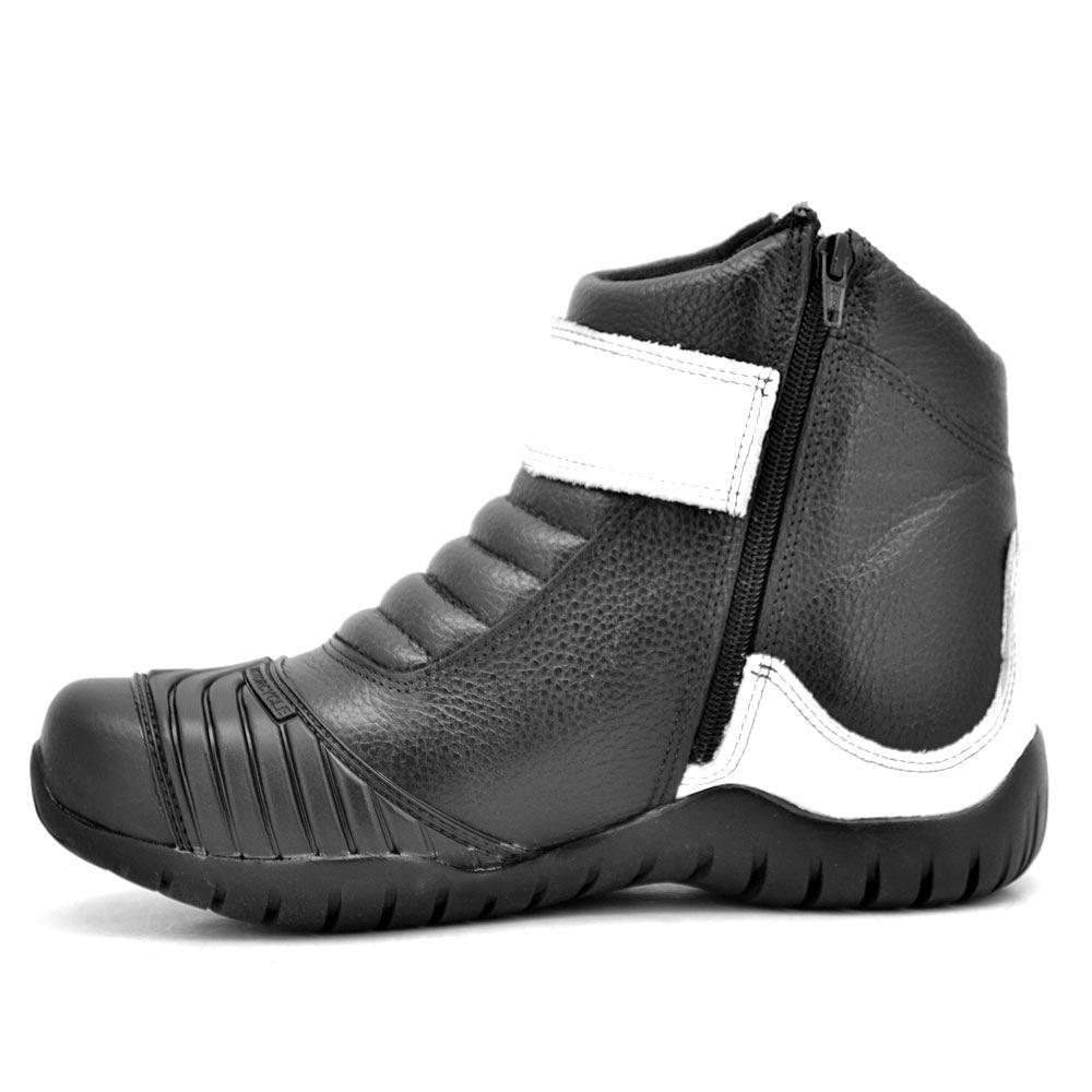 Branco Coturno Atron Shoes Shoes Motociclismo e Coturno Motociclismo Preto Atron AzxAgwqr