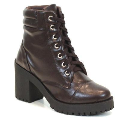 Coturno Tag Shoes Feminino Cano Médio Cadarço Conforto - Feminino