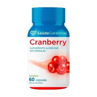 Cranberry Suplemento Alimentar 60 Capsulas Saúde Garantida