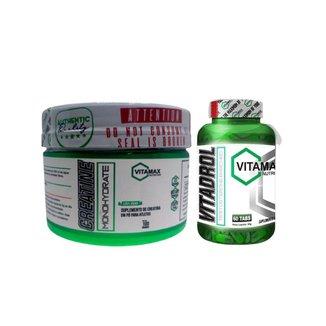 Creatina 100gr + Vitadrol Testosterona - Vitamax