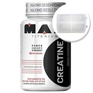 Creatina - 120 cápsulas + Porta Cápsulas transparente - Max Titanium