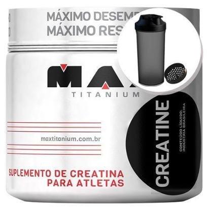 Creatina – 150g + Coqueteleira 600ml Preta – Max Titanium