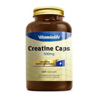 Creatina - Creatine Caps 120 Cápsulas Vitaminlife