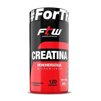 Creatina Monohidratada 500mg 120 Cáps - FTW