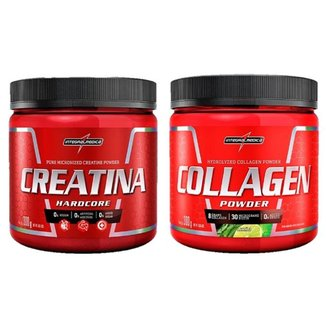 Creatina Powder 300g + Collagen Powder Limao 300g Integralmedica