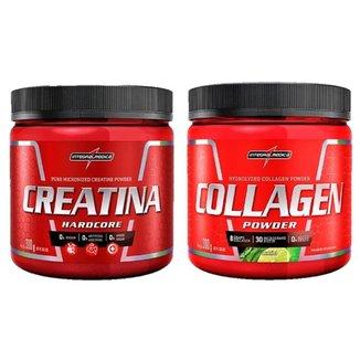 Creatina Powder 300g + Collagen Powder Limao 300g Integralmedica