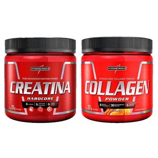 Creatina Powder 300g + Collagen Powder Tangerina 300g Integralmedica