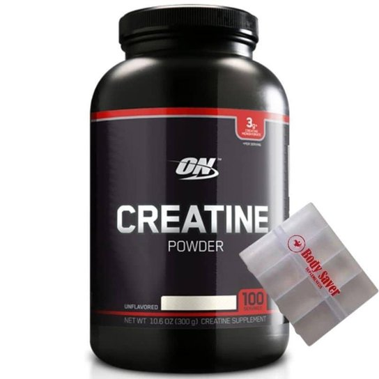 Creatina Powder - Black Line (300g) Optimum Nutrition - Branco
