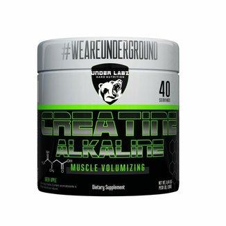 CREATINE ALKALINE 200g Maçã Verde Suplemento em Pó Muscular