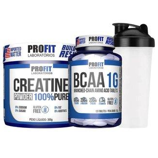 Creatine Powder 300g - Profit / Original + Bcaa 1g + Coq