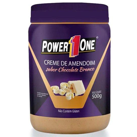 Creme de Amendoim Power 1 One 500g Sabor Chocolate Branco -