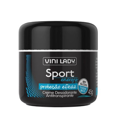 Creme Desodorante Antitranspirante Sport Energy 45g Vini Lady