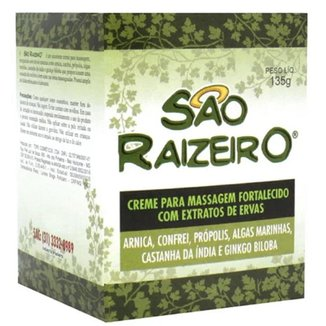 Creme Para Massagem São Raizeiro 135g -6- Unidades