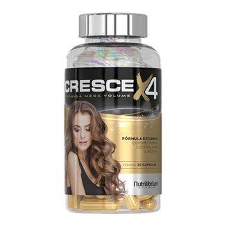 CRESCE X4 - 30 Capsula - aminoácidos, complexo vitamínico e mineral - Nutrilibrium
