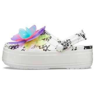 Crocs Crocband Platform Hyper Tropic Clog Neon Floral/White