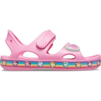 Crocs Fun Lab Rainbow Sandal Infantil Pink Lemonade