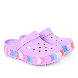 Crocs Infantil Crocband Chevron Beaded Clog K Feminina
