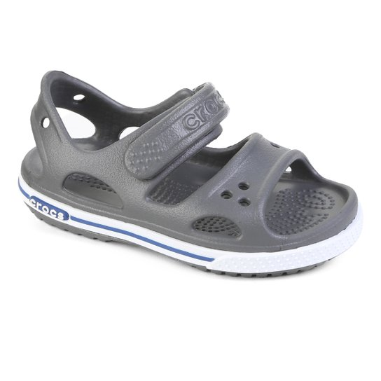Crocs Infantil Crocband II PS - Cinza+Azul