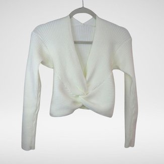 Cropped Modal Nó Frontal Nathalia - Glam Tricot