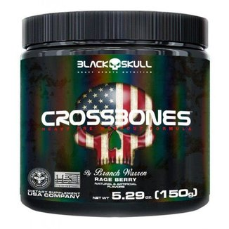 Cross Bones  150G Black Skull