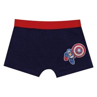 Cueca Boxer Infantil Evanilda Capitão América