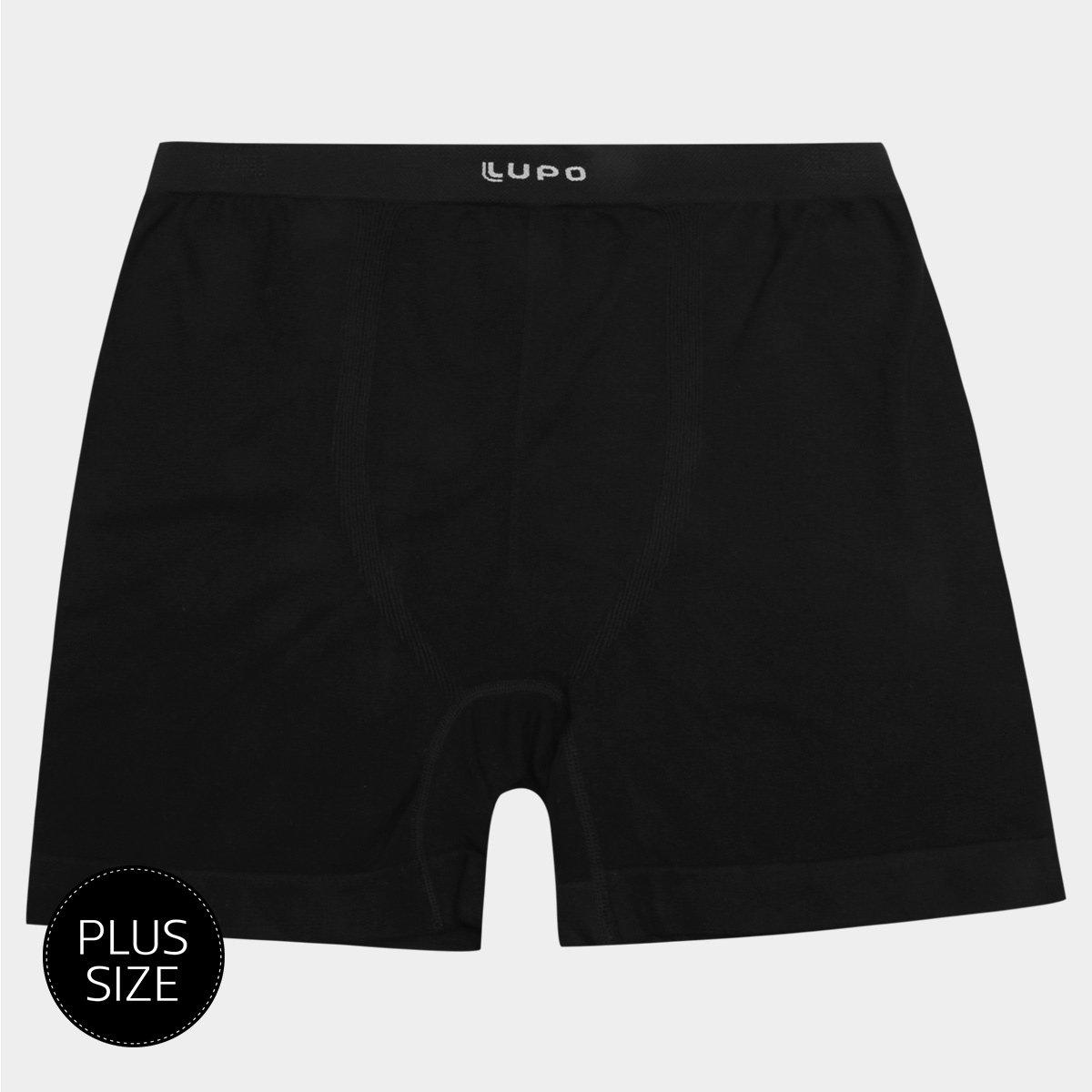 01520d065 Cueca Boxer Lupo Micromodal Plus Size - Preto
