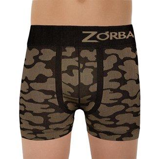 Cueca Boxer Zorba Camuflada Sem Costura Infantil 140 G Dourado