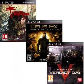 DEAD ISLAND RIPTIDE / DEUS EX HUMAN REVOLUTION / ARMORED CORE VERIDICT DAY - PS3