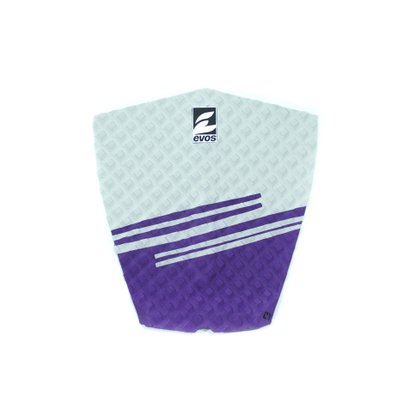 Deck Pad Antiderrapante Evos para Prancha de Surfe Stripes II Azul Claro e Cinza