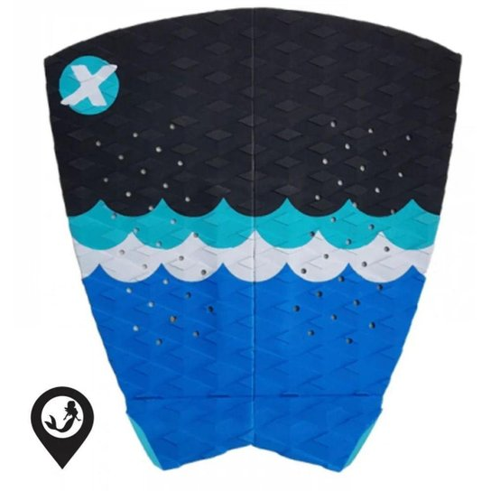 Deck Para Prancha de Surf Expans Luara Mandelli Wave Azul - Preto+Azul