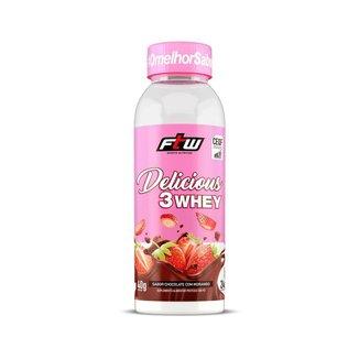 Delicious 3 Whey - 40g Chocolate Com Morango - FTW