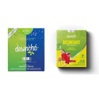 Desinchá Misto Dia + Noite 60 sachês + Desinshot c/ 7 sachês