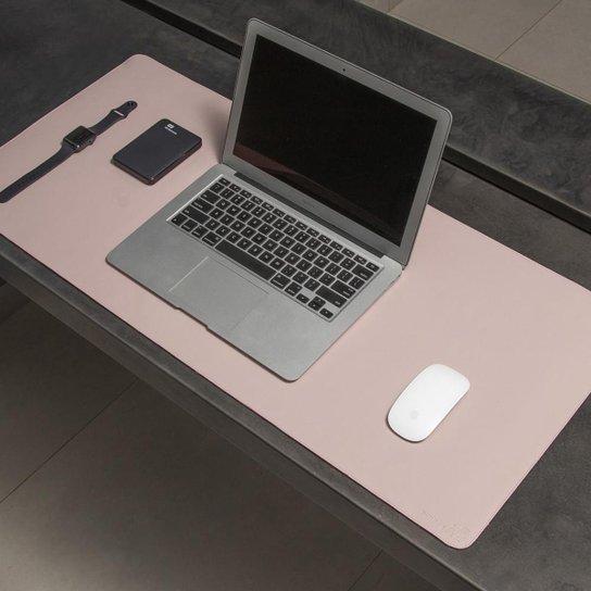Desk Pad Bullpad 90x40cm Em Couro Sintetico - Rosa