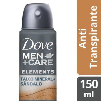 Desodorante Antitranspirante Aerosol Dove Men+Care Talco Mineral + Sandalo 150ml
