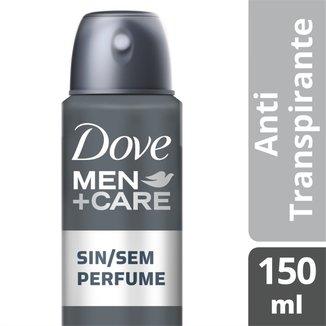 Desodorante Antitranspirante Dove Sem Perfume Masculino Aerosol 150ml