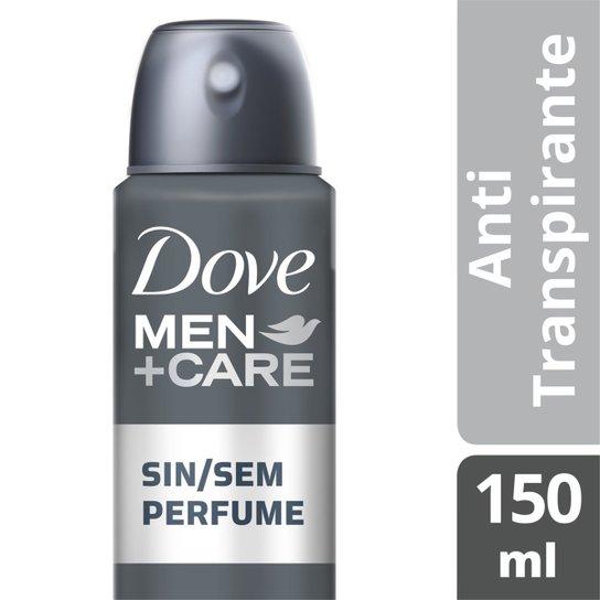 Desodorante Antitranspirante Dove Sem Perfume Masculino Aerosol 150ml - Incolor