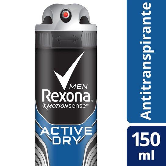 Desodorante Antitranspirante Rexona Active Dry/Azul 150ml - Incolor