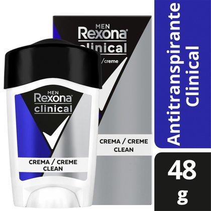 Desodorante Antitranspirante Rexona Clinical Azul Masculino 48g