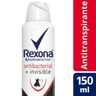 Desodorante Antitranspirante Rexona Feminino Aerosol Antibacterial + Invisible 150ml