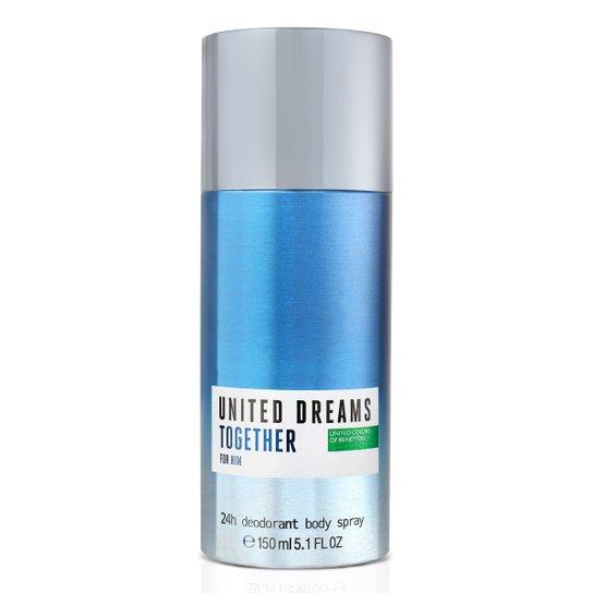 Desodorante Corporal Benetton United Dreams Together Masculino 150ml - Incolor