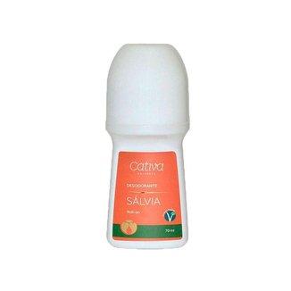 Desodorante de Salvia SEM Aluminio Orgânico Natural Vegano Roll On 70ml