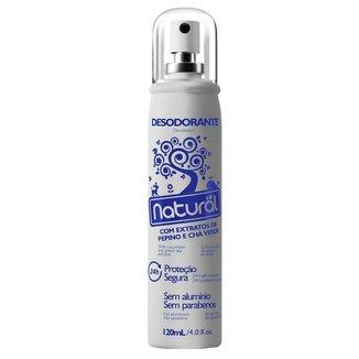 Desodorante Natural com Extratos de Pepino e Chá Verde 120ml Suavetex