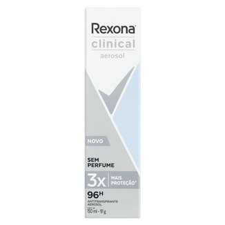 Desodorante Rexona Clinical Sem Perfume Aerosol 150ml
