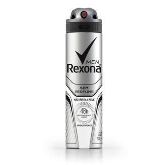 Desodorante Rexona Men Antitranspirante Sem Perfume Aerosol Masculino 150ml
