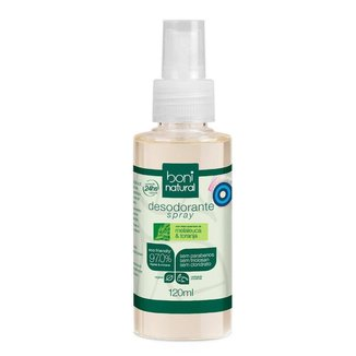 Desodorante Spray Boni Natural Melaleuca e Toranja 90g