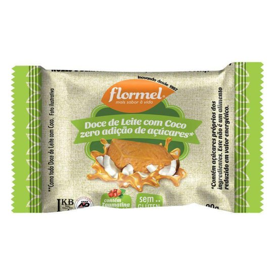 Doce De Leite Com Coco Zero Açucar 20g Flormel -