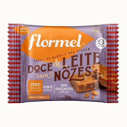 Doce de Leite com Nozes Flormel Zero Açúcar 3 Und
